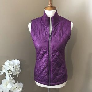 PrAna Purple Fleece Lined Puffer Vest